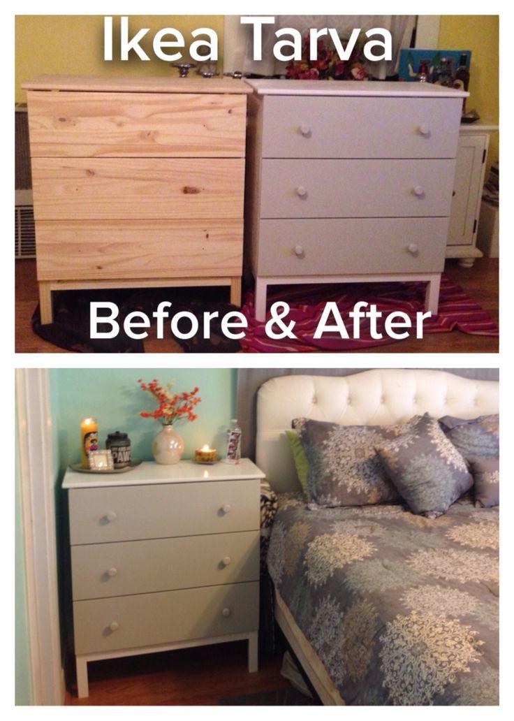 Ikea Tarva Dresser To Nightstand Just Add Paint