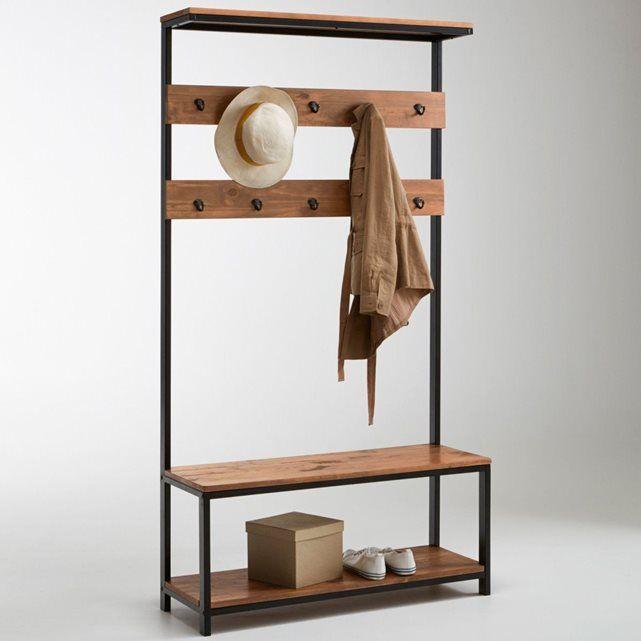 meuble d 39 entr e hiba meuble vestiaire pin massif et la redoute interieurs. Black Bedroom Furniture Sets. Home Design Ideas
