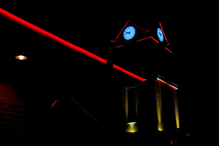 Train station clock tower.  #led #ledlighting #lighting #lightingideas #lightingdesign #light #design