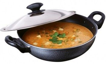 Buy Maple Non Stick Extra Deep Kadai With Glass Lid 265mm Lowest Price @ Rs.1,091  Click Here: http://goo.gl/bE6aT0