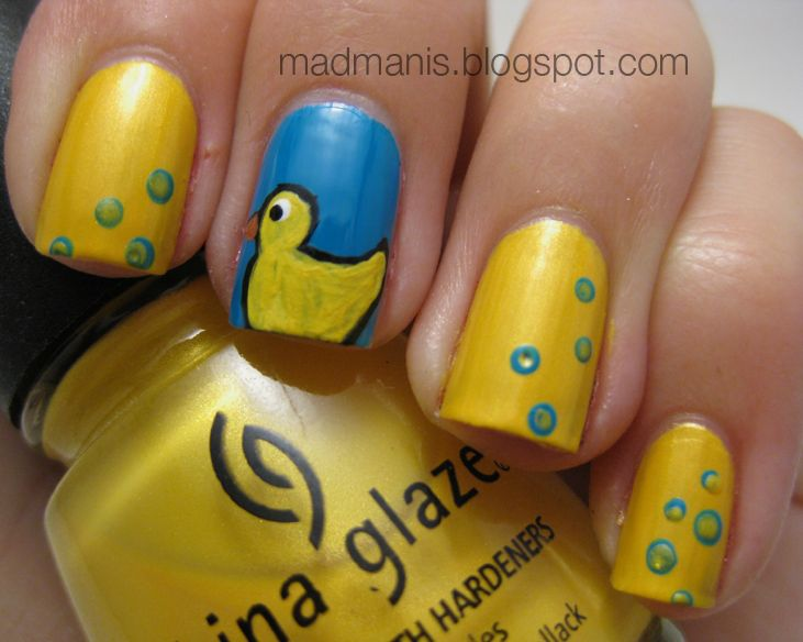 rubber duck nails nails nails and more nails pinterest ducks rubber duck and nails. Black Bedroom Furniture Sets. Home Design Ideas