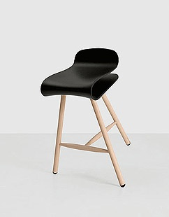 Black Bar Stool by Kristalia / Product available on HomeLovers.pl