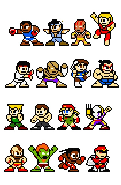 Streets fighter 8 bits