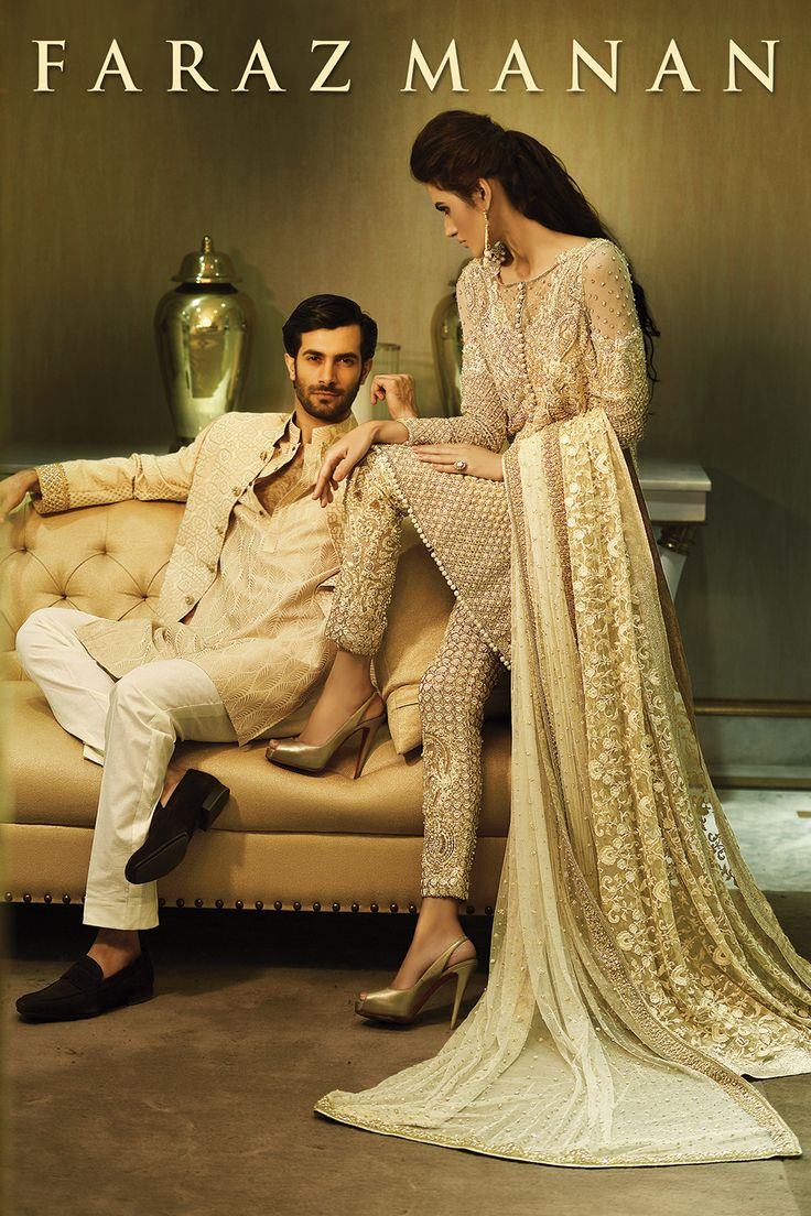 Gorgeous Nadia Ali & Shahzad Noor in all new Faraz Manan Collection.