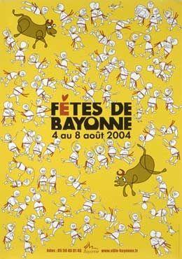 Toutes les affiches des fêtes de Bayonne de 1932 à 2015