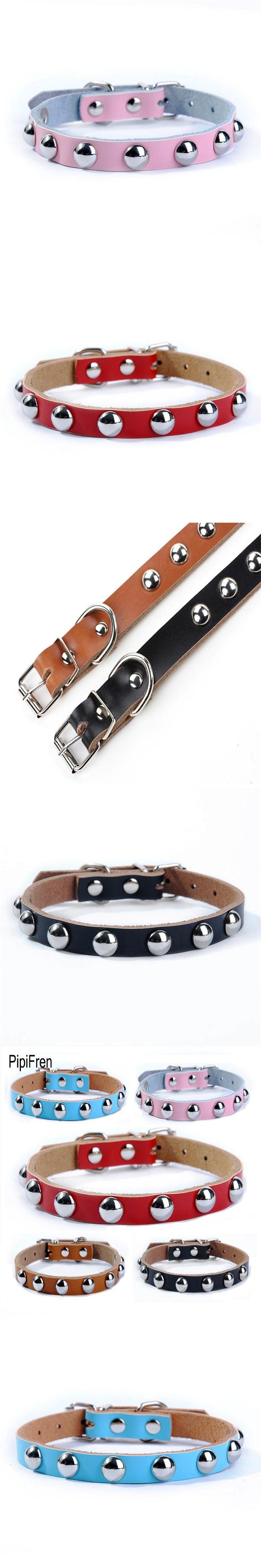 PipiFren Cats Collars Dogs Spiked Rivet For Pets Collar Necklace Accessories Cat Belt Supplies halsband kat katzenhalsband