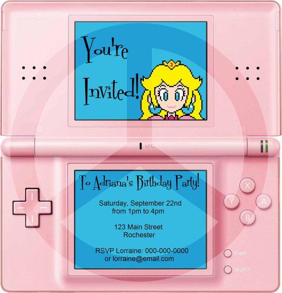 Princess peach party -Invite