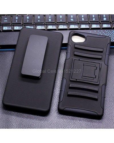 Case Xperia Z5 Sony Compact holster con Gancho Rugged de 4 Agarres Muy Resistente y Durable
