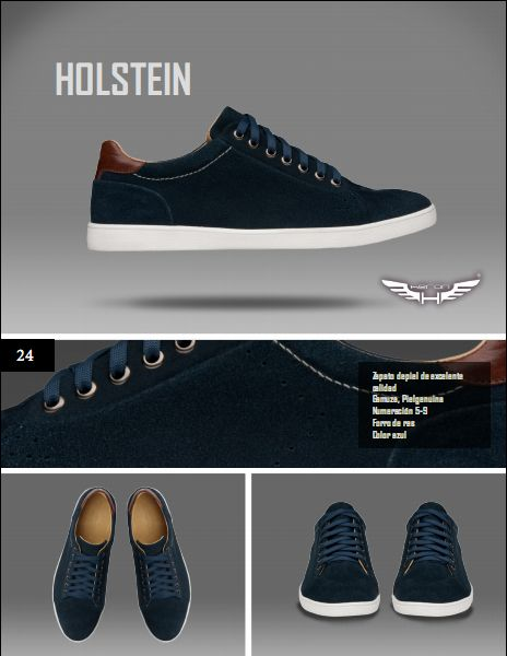 #Calzado modelo holstein, color azul. #moda