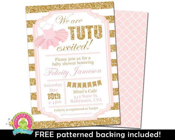 baby shower invitation girl tutu baby shower invitation tutu baby shower invite ballerina baby shower tutu invitation tutu invite