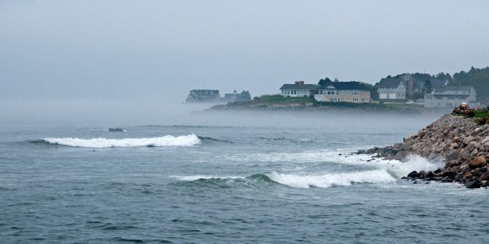 13. Hurricane Earl sent some early fog and waves in York.