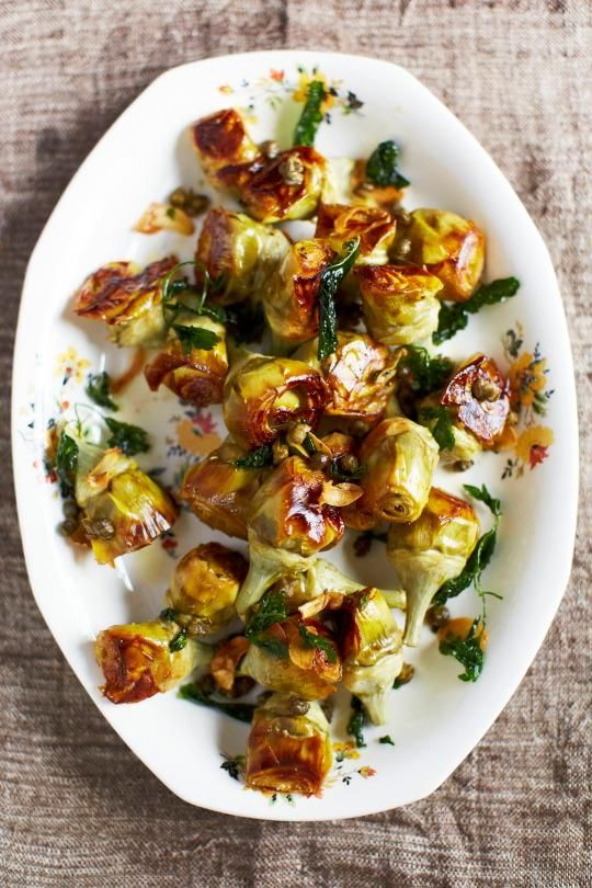 Chef April Bloomfield's recipe for pot-roasted artichokes from her cookbook, A Girl and Her Greens.