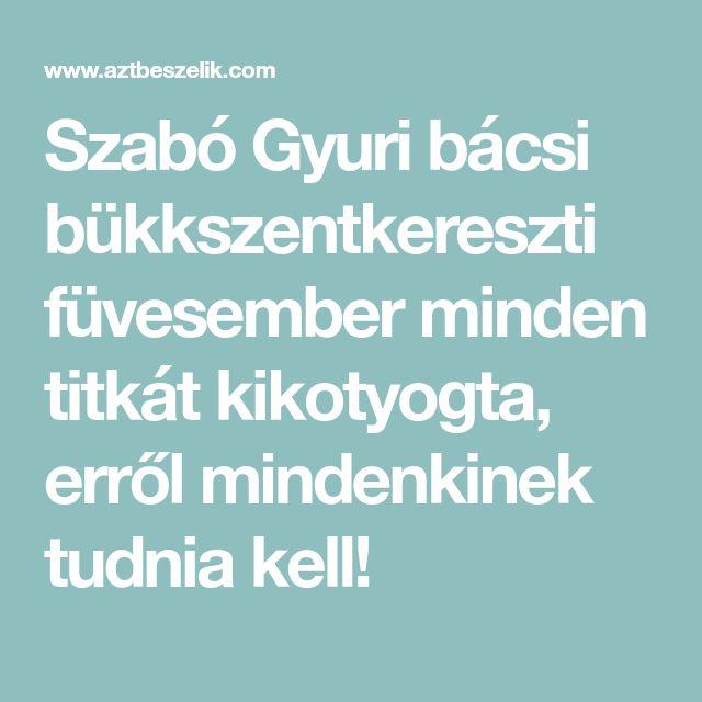 Szabó Gyuri bácsi bükkszentkereszti füvesember minden titkát kikotyogta, erről mindenkinek tudnia kell!
