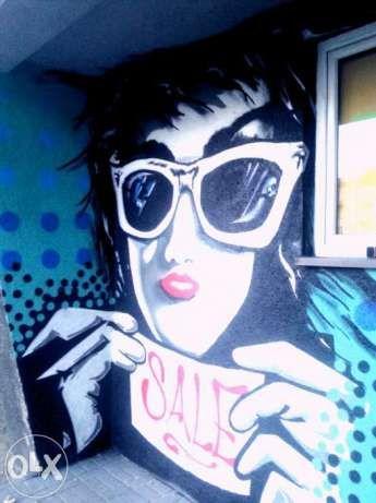 Malowanie artystyczne, Graffiti, Mural, reklamy i w domu Sosnowiec - image 1