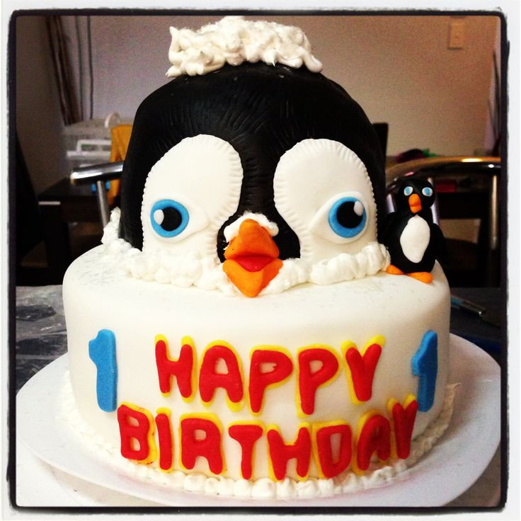Happy Feet 2 Cake My Cakes Pinterest Cakes And Happy