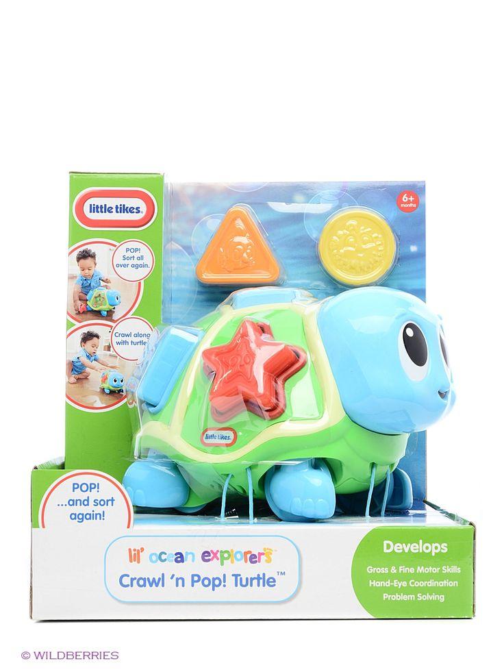 Little Tikes Развивающая игрушка Ползающая черепаха-сортер, со звуком, Little Tikes