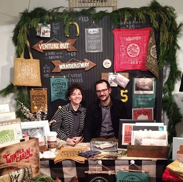 Our Winter Cabin display for Renegade Brooklyn Archives | Renegade Craft Fair