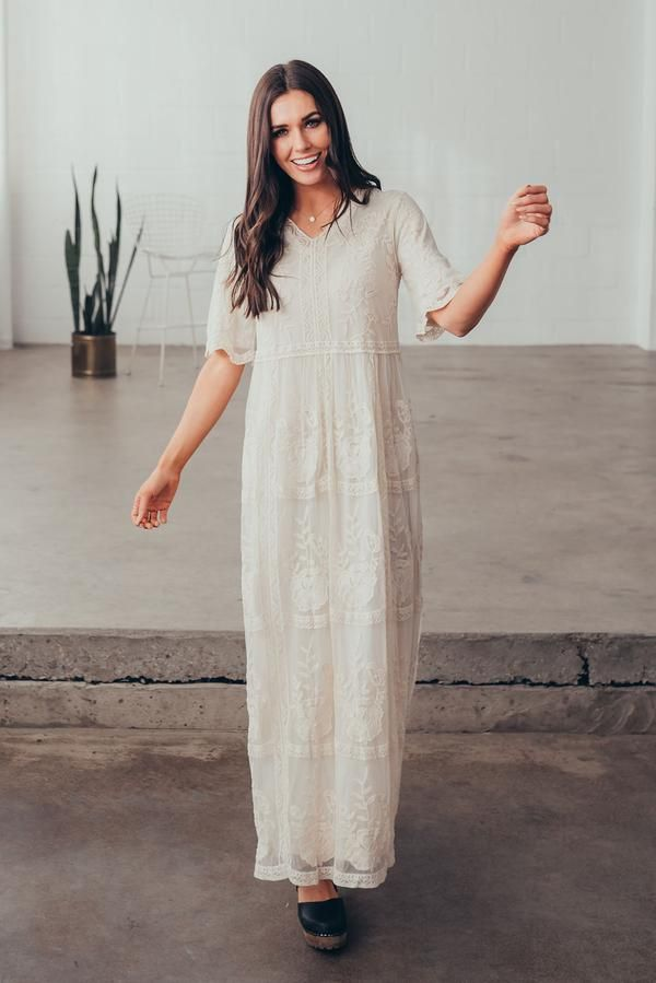 d76be81dd40c Kara lace maxi dress in ivory in 2019 | Citrus & Lemon | Our ...