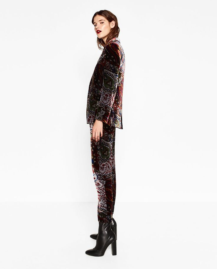 VELVET BLAZER-TRENDING PICKS-WOMAN | ZARA United States