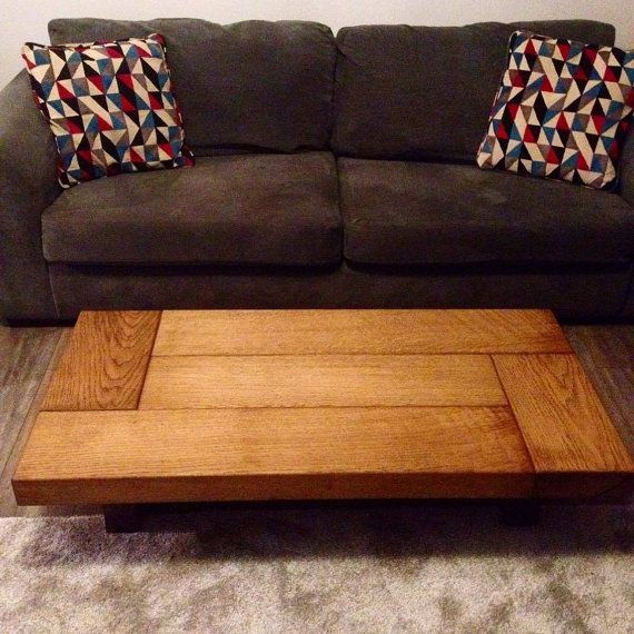 Oak Coffee Table Sleeper Rustic Dark Wood Low Handmade