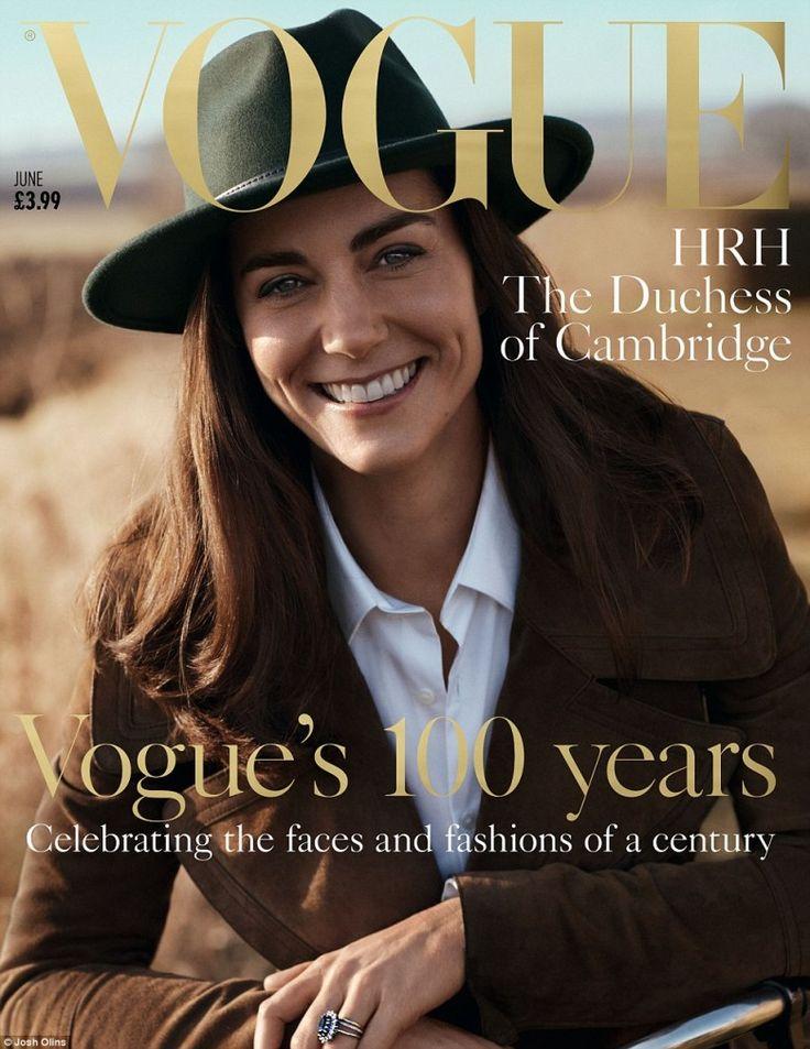 Para comemorar os 100 anos, a Vogue Inglesa merecia alguém muito especial na capa. E a escolhida foi ninguém mais, ninguém menos do que a Kate Middleton.