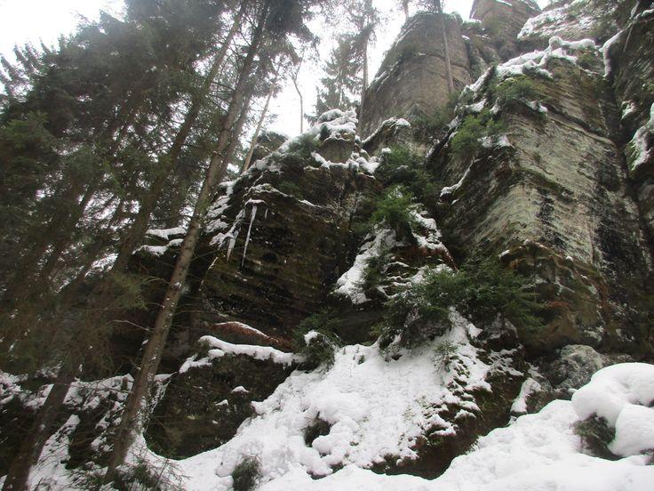 Kyjovské údolí v zimě - severní Čechy