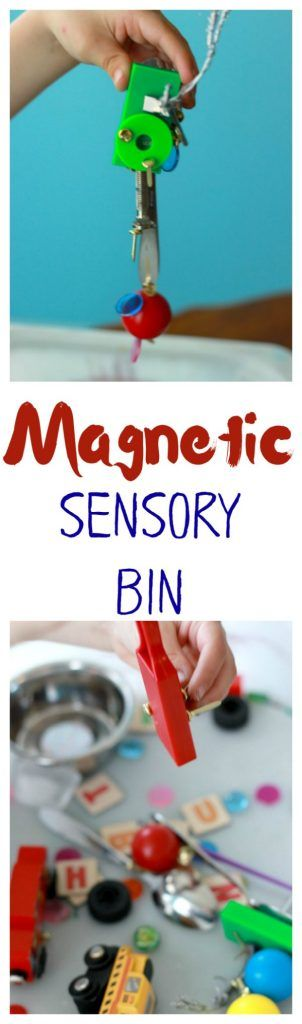 Magnetic Sensory Bin for Kids : Awesome for preschool science!