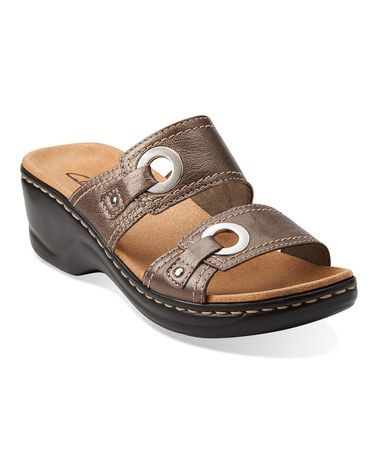 Look what I found on #zulily! Pewter Lexi Willow Leather Sandal #zulilyfinds $44.99, regular 85.00