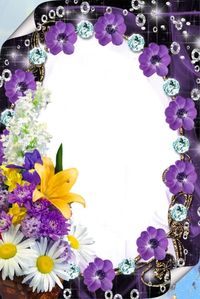 Purple Flower Borders and Frames | Purple Flower Borders and Frames