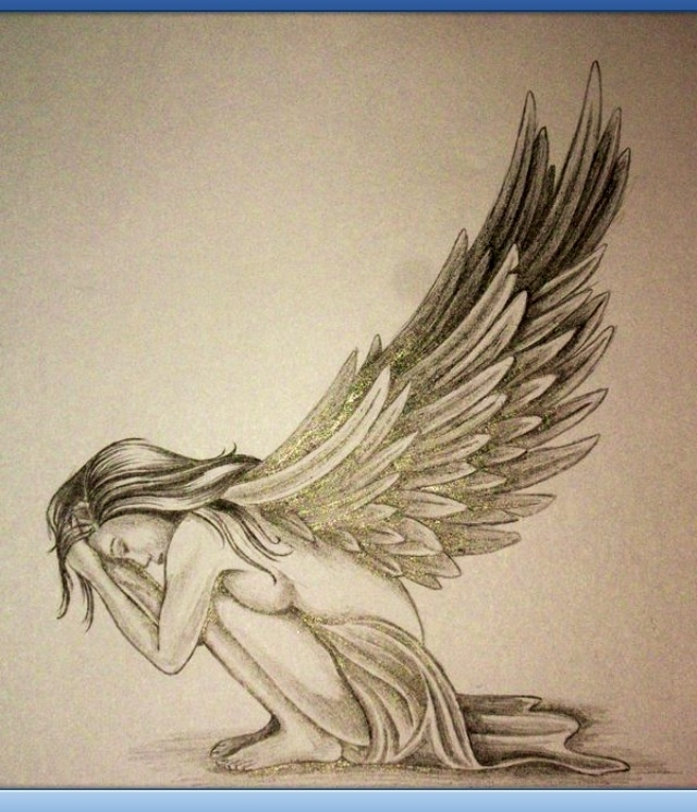 Pretty angel sketch...