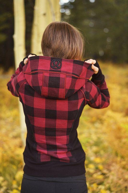 "Lululemon ""lumberjack"" scuba hoodie"