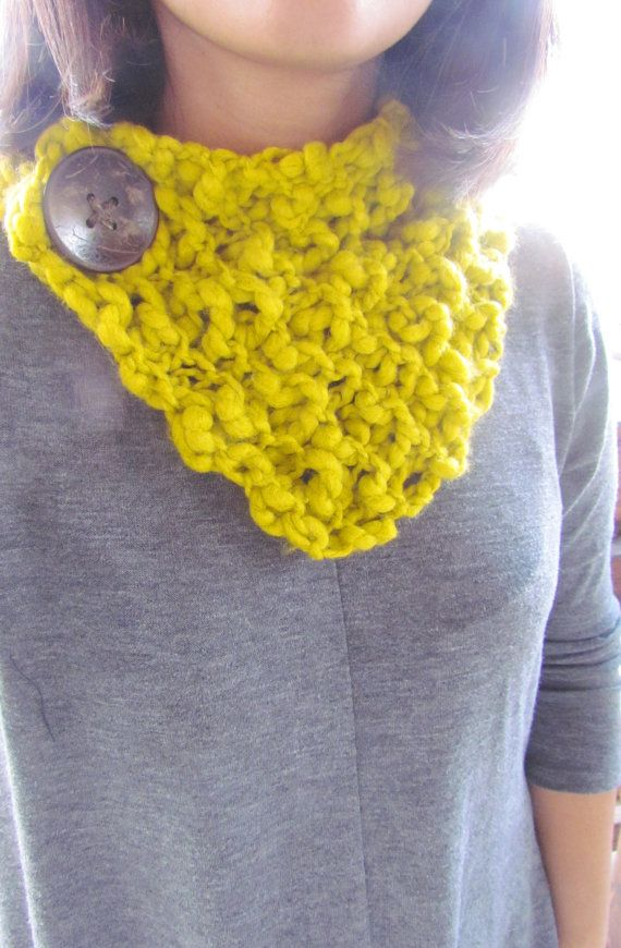 ginger mustard wrap neck warmer button up scarf on Etsy, $20.00