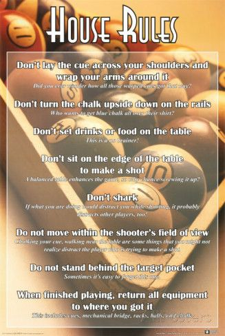 House Rules Billiards Posters At Allposters Com Things