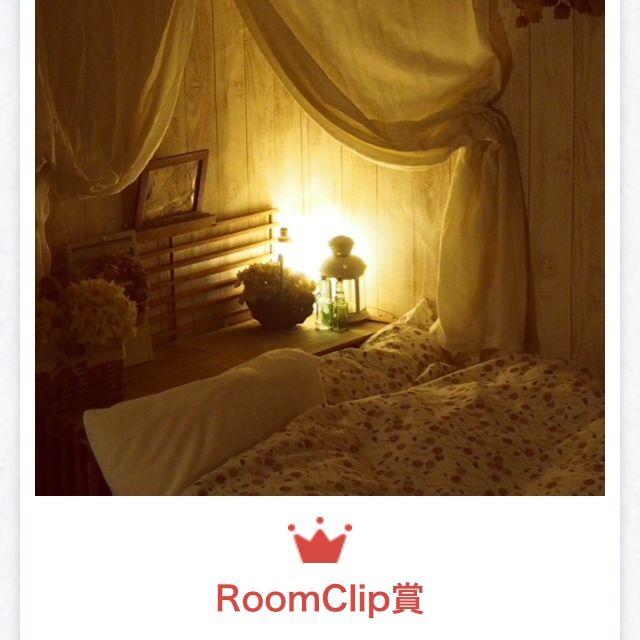 ベッド周り/RoomClip賞/皆様のおかげです。/RC賞/姫部屋コンテスト/自称姫スペースΣ(-∀-ノ)ノ…などのインテリア実例 - 2015-02-22 21:23:16 | RoomClip(ルームクリップ)