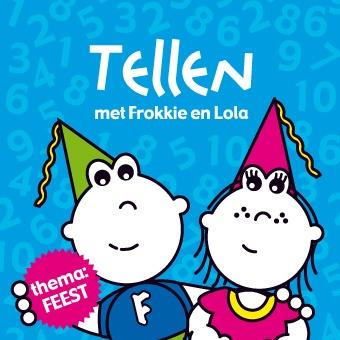 Boekje 'Tellen met Frokkie & Lola' op rijm. Thema: feest
