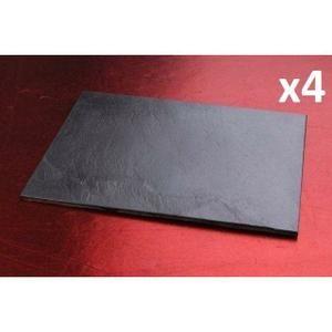 Set de 4 ardoises rectangles 35x15cm - Achat / Vente service complet - Cdiscount