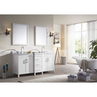 Shop for ARIEL Hollandale 73-inch Double-sink White Vanity Set. Get free delivery at Overstock.com - Your Online Furniture Outlet Store! Get 5% in rewards with Club O!