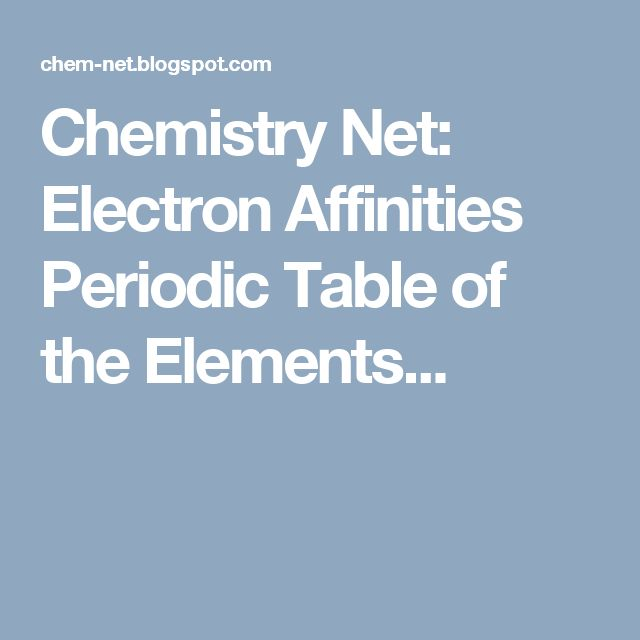 25+ Best Ideas about Electron Affinity on Pinterest ...