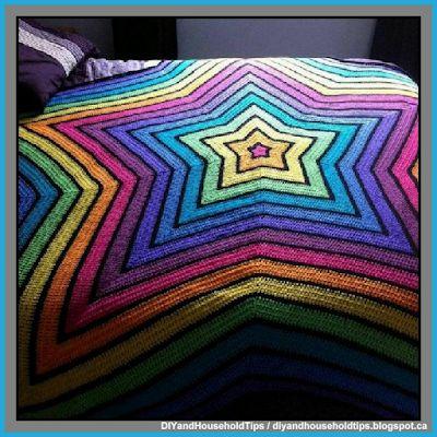 DIY And Household Tips: Chromium Star Crochet Blanket (FREE PATTERN)