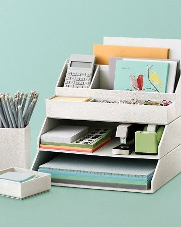 Stack+Fit™ Desk Accessories  Mix and match these stackable accessories to create a desktop system that fits your space and storage needs.