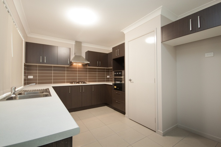 Open plan kitchen - 1100 wide fridge space with rear tap for plumbed in filtered water and ice dispenser in fridge