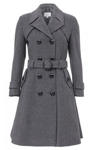 PRE ORDER: Stylish Wool & Cashmere Long Winter Coat – Mid Grey