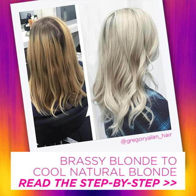 how to take brassy tones out of blonde hair