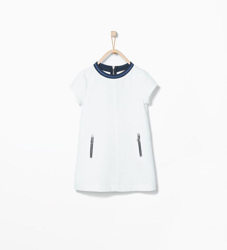 Piqué dress with stretch neck-Dresses-Dresses-Girl (3-14 years)-KIDS | ZARA United States