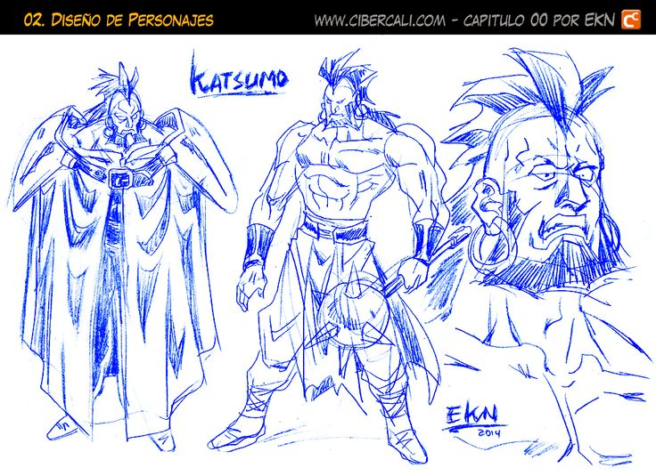 EL DISCIPULO Dibujo de Katsumo (Diseño de Personaje) por EKN | EKN: Mis Dibujos de Anime Manga