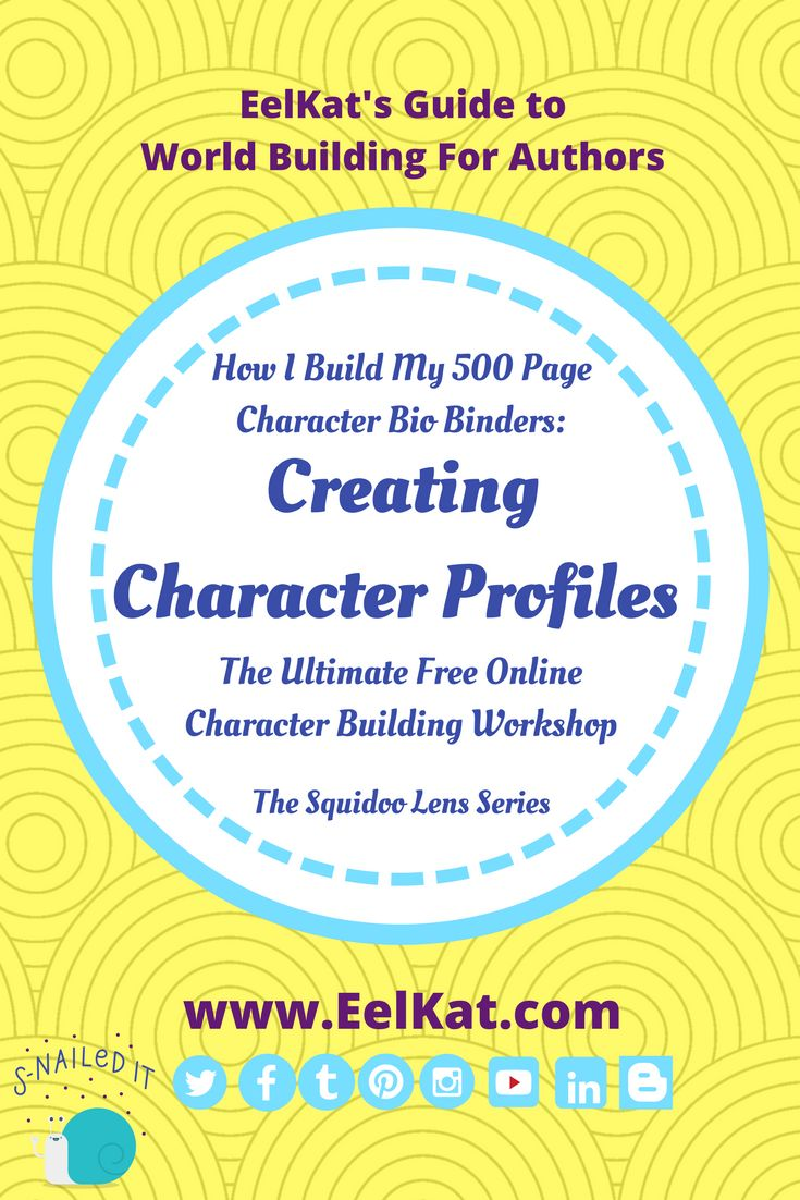 Your World: Creating Character Profiles | EelKat's Guide To Worldbuilding For Fantasy Authors - The Squidoo Series
