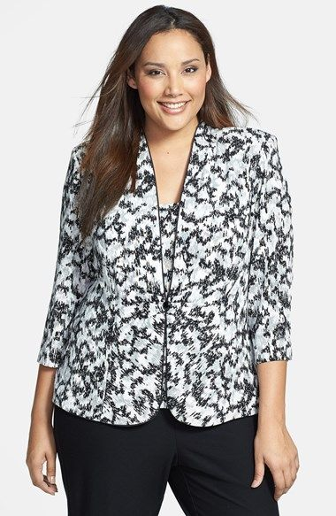 Alex Evenings Foiled Print Twinset Jacket & Tank (Plus Size) available at #Nordstrom