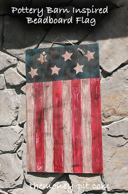 Pottery Barn Inspired Beadboard Flag - The Kim Six Fix