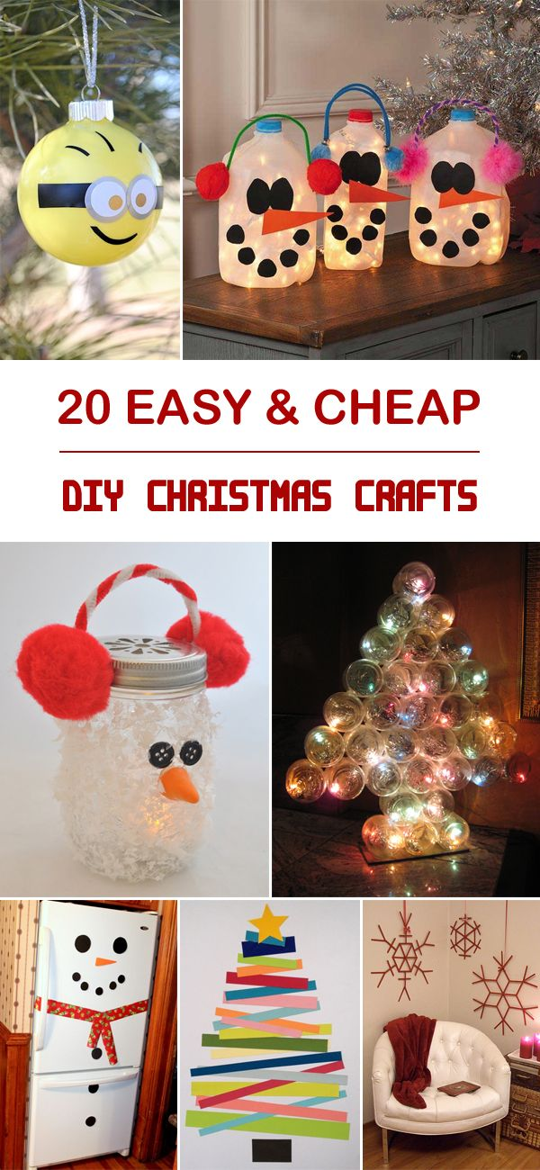 1000 ideas about cheap christmas crafts on pinterest for Cheap diy christmas crafts