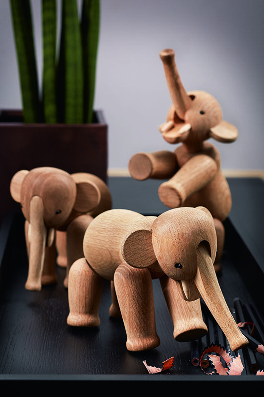 Elephants, oak wood  Danish Interior Design Budapest